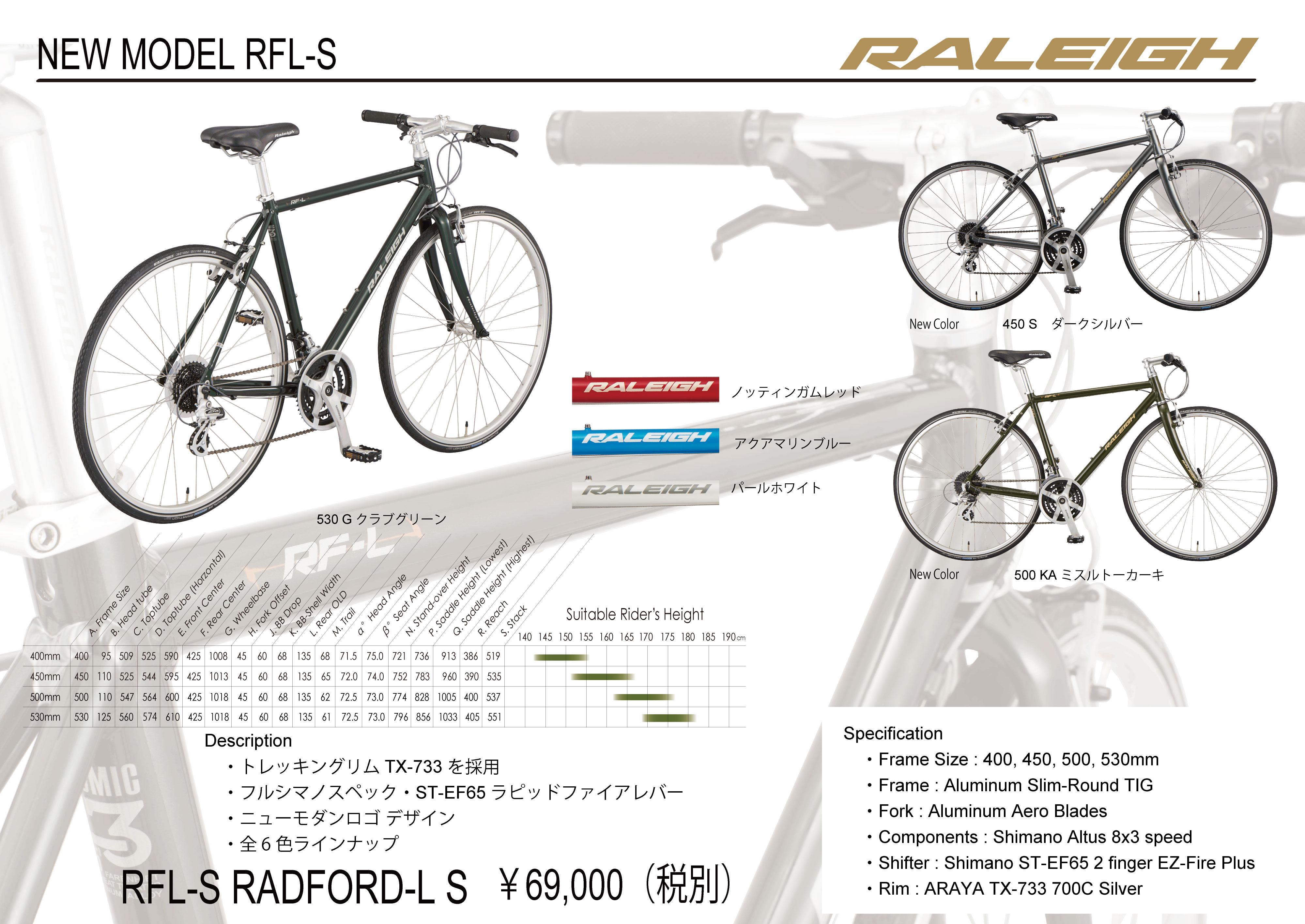 新モデル RFL-S 入荷のお知らせ